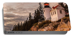 Portable Battery Charger featuring the photograph Bass Harbor Lighthouse by Dan Sproul