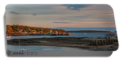 Bass Harbor Sunset Portable Battery Charger
