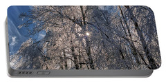 Bass Lake Trees Frozen Portable Battery Charger
