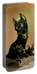 Bastet Egyptian God Portable Battery Charger