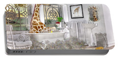 Bath Time Giraffe  Portable Battery Charger