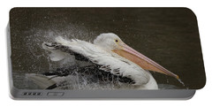 Bathing Pelican Portable Battery Charger