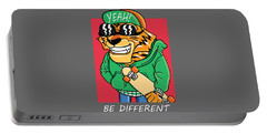 Be Different - Baby Room Nursery Art Poster Print Portable Battery Charger