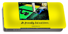 Portable Battery Charger featuring the photograph Be Friendly But Not Tame by Judy Kennedy