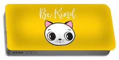 Be Kind - Baby Room Art Poster Print Portable Battery Charger