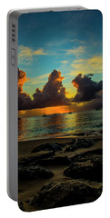 Beach At Sunset 2 Portable Battery Charger