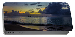 Beach At Sunset 3 Portable Battery Charger