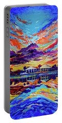 Beach House Reflections Fluid Acrylic Portable Battery Charger