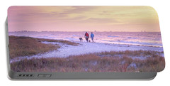 Sunrise Stroll On The Beach Portable Battery Charger