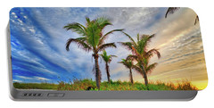 Portable Battery Charger featuring the photograph Beach Sunrise Over The Palms by Lynn Bauer