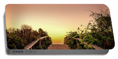 Path Over The Dunes At Sunrise. Portable Battery Charger