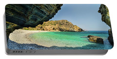 Almiro Beach With Cave Portable Battery Charger