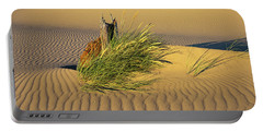 Beachgrass And Ripples Portable Battery Charger