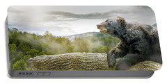 Bear In Tree At Smoky Mountains Park Portable Battery Charger