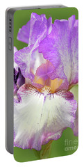 Bearded Iris-autumm Tryst Portable Battery Charger