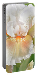 Bearded Iris-coral Chalice Portable Battery Charger