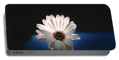 Beautiful And Delicate White Female Flower Dark Background Illum Portable Battery Charger