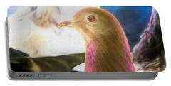 Beautiful Homing Pigeon Painted Portable Battery Charger