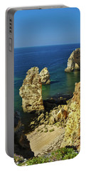 Beautiful Marinha Beach From The Cliffs Portable Battery Charger