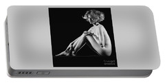 Beautiful Nude Woman Fineart Style Portable Battery Charger