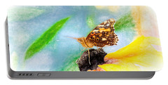 Beautiful Painted Lady Butterfly Portable Battery Charger
