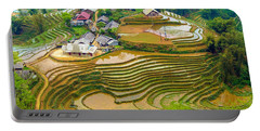 Beautiful Rice Fields, Vietnam Portable Battery Charger