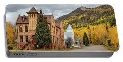 Portable Battery Charger featuring the photograph Beautiful Small Town Rico Colorado by James BO Insogna
