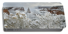 Beautiful Snow Morning Along Rim Rock Drive Portable Battery Charger