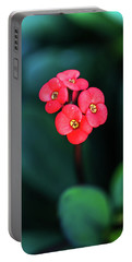 Beautiful Summer Flowers Portable Battery Charger