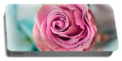 Beautiful Vintage Rose Portable Battery Charger