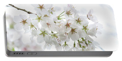 Beautiful White Cherry Blossoms Portable Battery Charger