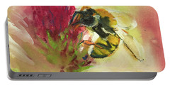 Bee On Clover Portable Battery Charger
