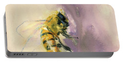 Bee On Lavender Portable Battery Charger