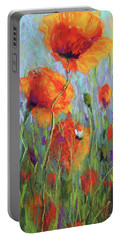Bees And Poppies Portable Battery Charger