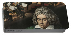 Beethoven, Gouache On Paper Portable Battery Charger