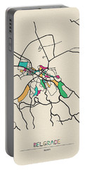 Belgrade, Serbia City Map Portable Battery Charger