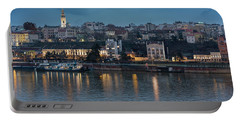Belgrade Skyline And Sava River Portable Battery Charger