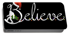 Believe Tree Black And White Shirt Science Portable Battery Charger