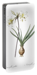 Belladonna Lily Illustration From Les Liliacees  1805  By Pierre Joseph Redoute  1759 1840  Portable Battery Charger