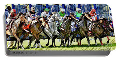 Belmont Park Starting Gate 1 Portable Battery Charger