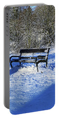 Bench In The Snow Portable Battery Charger