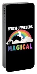 Portable Battery Charger featuring the digital art Bench Jewelers Are Magical by Flippin Sweet Gear