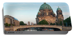 Berliner Dom And River Spree In Berlin Portable Battery Charger