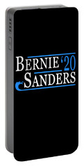 Portable Battery Charger featuring the digital art Bernie Sanders Blue Wave 2020 by Flippin Sweet Gear