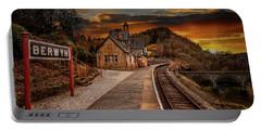 Berwyn Railway Station Sunset Portable Battery Charger