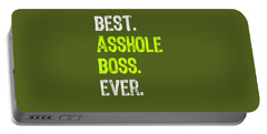 Best Asshole Boss Ever Funny Boss's Day Gift T-shirt Portable Battery Charger
