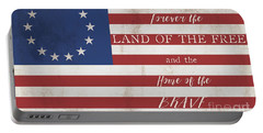 Betsy Ross Flag Land Of Free Home Of Brave Portable Battery Charger