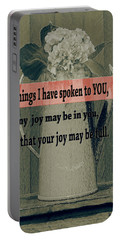 Bible Verses  Art 111 Portable Battery Charger