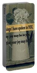 Bible Verses  Art 112 Portable Battery Charger