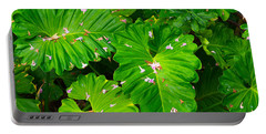 Portable Battery Charger featuring the photograph Big Green Leaves by Tom Gresham
